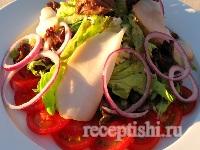 Салат с копченым тунцом