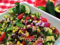 Рецепт Салат Техасский фасолевый с авокадо