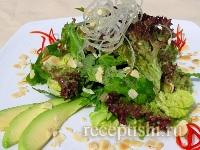 Салат зеленый с авокадо