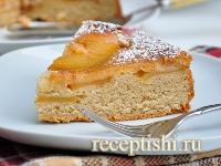 Рецепт Шарлотка с яблоками в карамели
