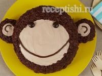 """Шоколадный торт """"Обезьянка"""""""