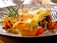Сливочная овощная лазанья
