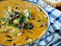 Рецепт Сливочное рагу из кабачков с фасолью