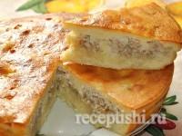 Сметанное тесто для пирогов с грибами и курятиной