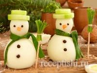 Рецепт Снеговики из фаршированных яиц