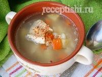 Зимний суп из морского окуня