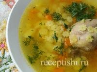 Рецепт Суп куриный со звездочками