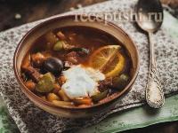 """Рецепт Суп """"мясная солянка"""" с картошкой"""