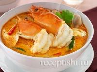 Рецепт Суп том ям с креветками