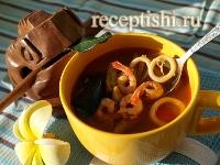 Рецепт Суп Том Ям Тхале (с морепродуктами)