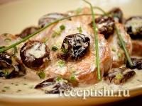 Рецепт Свинина с черносливом в сливочном соусе