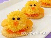 Сырные шарики-цыплята
