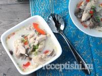Рецепт Тайский куриный суп-палео с чили-соусом