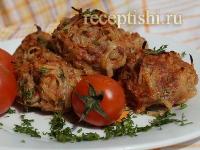 Рецепт Тефтели с картошкой, запеченные в духовке