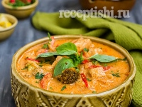 Рецепт Тайское красное карри с курицей
