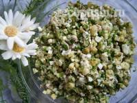 Весенний салат с курицей и зеленью