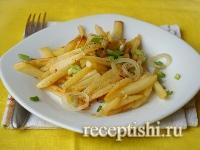 Рецепт Вкусная жареная картошка с луком