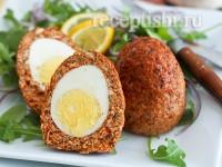 Яйца - Скотч с куриным фаршем