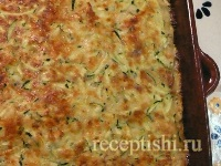 Пирог-запеканка из кабачков с сыром