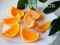 Рецепт Желе Апельсиновые дольки