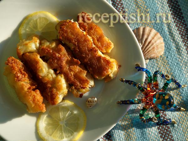 Рыбные палочки из филе трески