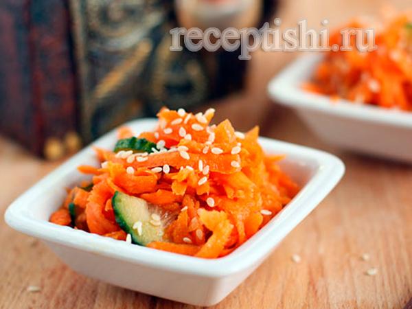 Острый морковный салат