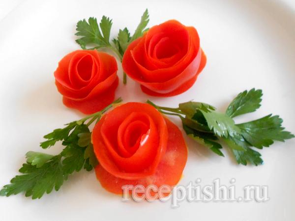 Как сделать украшение из помидорами 597