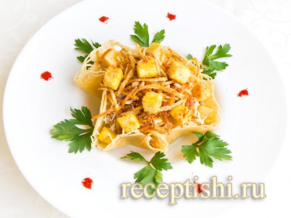 рецепт салат чикен пай