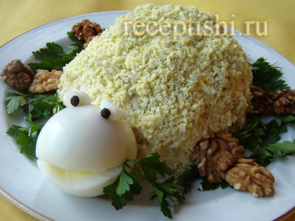 Салат Черепаха с курицей