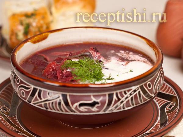 Борщ украинский с фасолью