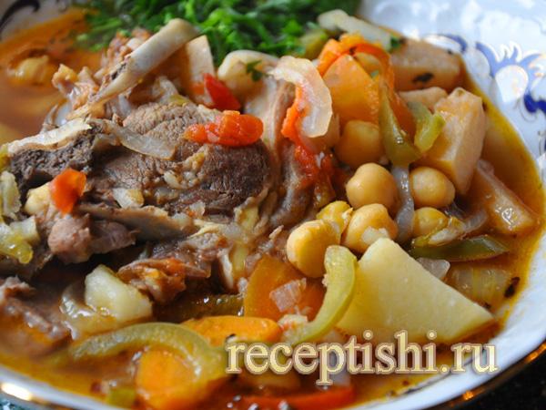 Рецепт супа бозбаш