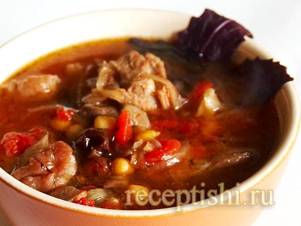 Пити (суп из баранины в горшочках)