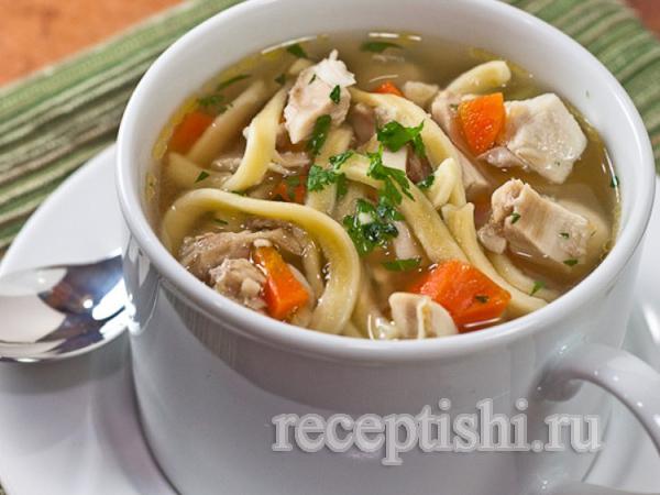 Лапша куриная (суп куриный с домашней лапшой)