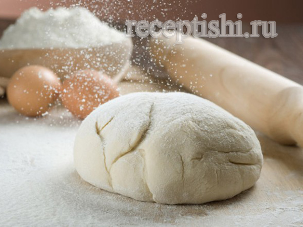 Тесто безопарное на воде для рыбных и овощных пирогов