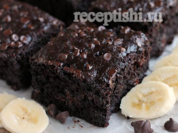Банановый торт с двойным шоколадом