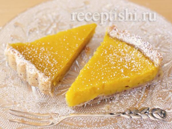 Лимонно-ореховый тарт со сливками