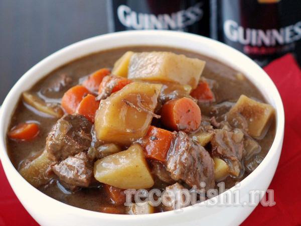 Ирландское рагу с говядиной и пивом