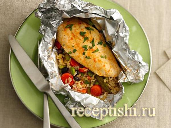 Рис с овощами в фольге в духовке рецепт 138