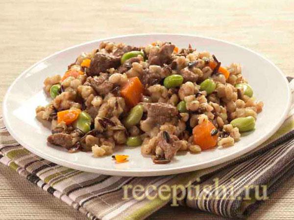 Перловка с мясом и овощами