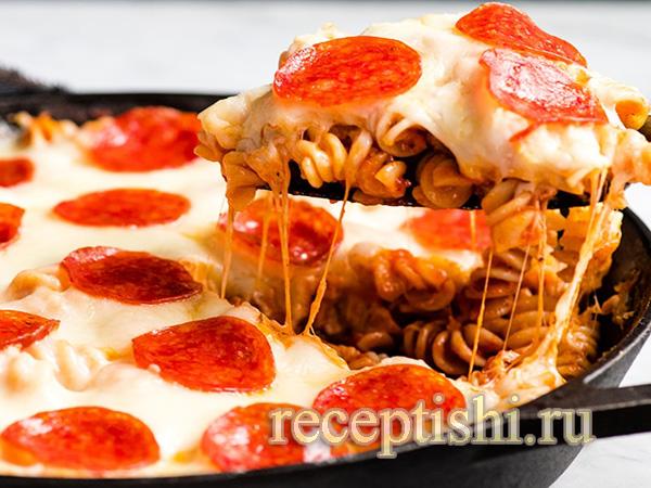 Пицца-запеканка из макарон