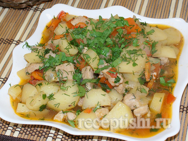 Свинина тушеная с картошкой (тушанка свиная)