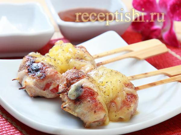 Рулетики из свинины с помидорами и сыром
